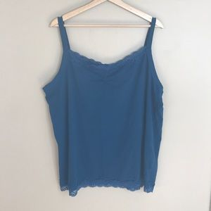 AE SPORT Tank Top Lace neckline/hem ruched at bust